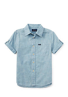 Ralph Lauren Childrenswear Chambray Button Front Shirt Boys 4-7