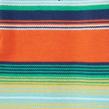 Ralph Lauren Boys: Orange Multi Ralph Lauren Childrenswear 3YD MESH-SS HENLEY-TOPS-KNIT VACATION BLUE MULTI