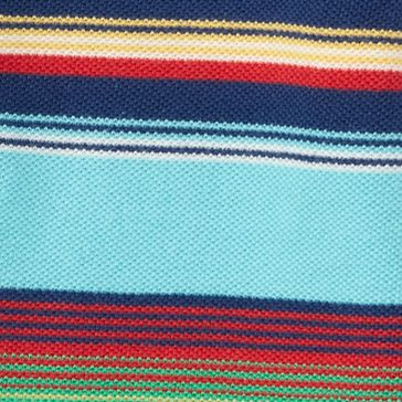 Ralph Lauren Boys: Blue Multi Ralph Lauren Childrenswear 3YD MESH-SS HENLEY-TOPS-KNIT VACATION BLUE MULTI