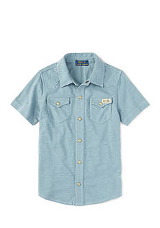 Ralph Lauren Childrenswear Western Snap Front Shirt Boys 4-7