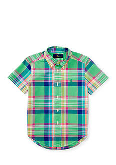 Ralph Lauren Childrenswear Madras Short Sleeve Boys 4-7