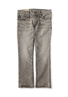 Ralph Lauren Childrenswear Slim-Fit Chip Wash Jeans Boys 4-7