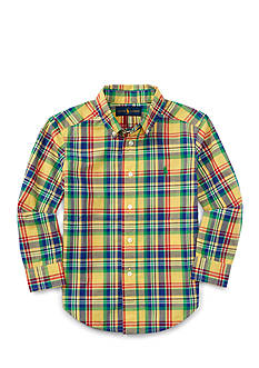 Ralph Lauren Childrenswear Poplin Plaid Shirt Boys 4-7