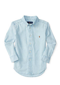Ralph Lauren Childrenswear Embroidered Chambray Shirt Boys 4-7