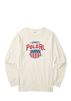 Ralph Lauren Childrenswear Jersey Graphic Tee Boys 4-7