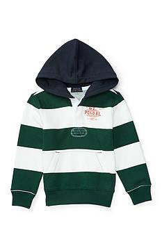 Ralph Lauren Childrenswear Striped Graphic Hoodie Boys 4-7