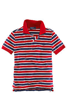 Ralph Lauren Childrenswear Basic Stripe Mesh Polo Boys 8-20