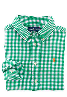 Ralph Lauren Childrenswear Gingham Woven Shirt Boys 8-20