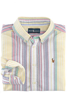 Ralph Lauren Childrenswear Stripe Blake Oxford Shirt Boys 8-20