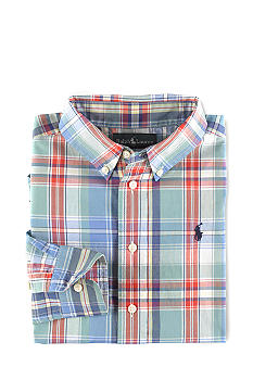 Ralph Lauren Childrenswear Classic Button-down Plaid Shirt Boys 8-20