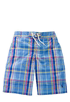 Plaid Swim Trunk Boys 8-20