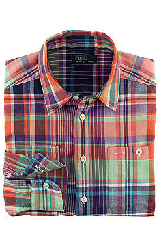 Ralph Lauren Childrenswear Traditional Plaid Button Down Boys 8-20