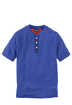 Ralph Lauren Childrenswear Blue Short Sleeved Henley Boys 8-20
