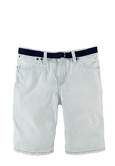 Ralph Lauren Childrenswear Railroad Stripe Denim Shorts Boys 8-20
