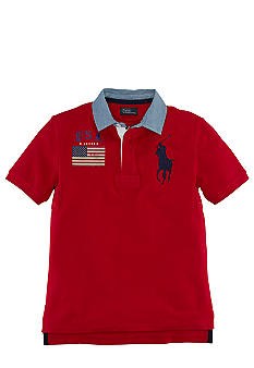 Ralph Lauren Childrenswear Contrast Collar Rugby Boys 8-20