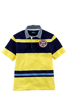 Ralph Lauren Childrenswear Nautical Patch Striped Rugby Boys 8-20