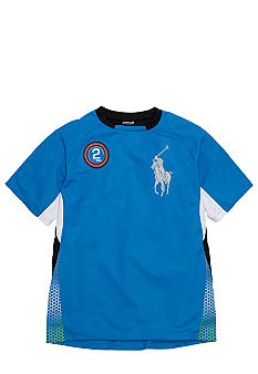 Ralph Lauren Childrenswear Active Pieced Crew Neck Shirt Boys 8-20