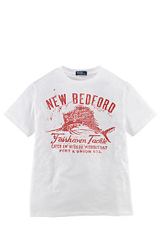 Ralph Lauren Childrenswear Fishing Graphic Tee Boys 8-20