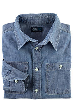 Ralph Lauren Childrenswear Matlock Chambray Shirt Boys 8-20