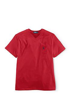 Ralph Lauren Childrenswear Jersey V-Neck Tee Shirt Boys 8-20