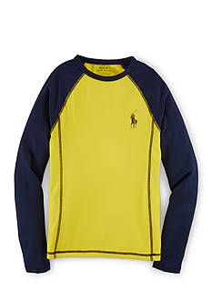 Ralph Lauren Childrenswear Colorblock Rash Guard Boys 8-20