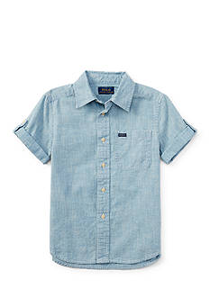 Ralph Lauren Childrenswear Chambray Button Front Shirt Boys 8-20