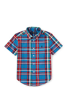Ralph Lauren Childrenswear Madras Plaid Button Front Shirt Boys 8-20