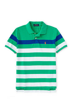 Ralph Lauren Childrenswear Stripe Polo Shirt Boys 8-20