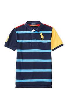 Ralph Lauren Childrenswear Solid Mesh Rugby Shirt Boys 8-20