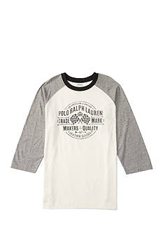 Ralph Lauren Childrenswear Jersey Print Baseball Top Boys 8-20