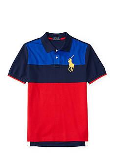 Ralph Lauren Childrenswear Solid Mesh Polo Shirt Boys 8-20