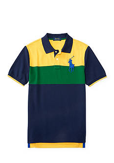 Ralph Lauren Childrenswear Solid Mesh Polo Shirt Boys 8-20
