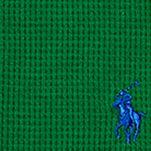 Boys T-shirts: Parrot Green Ralph Lauren Childrenswear Waffle-Knit Cotton-Blend Tee Boys 8-20