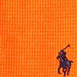 Boys T-shirts: Neon Orange Ralph Lauren Childrenswear Waffle-Knit Cotton-Blend Tee Boys 8-20