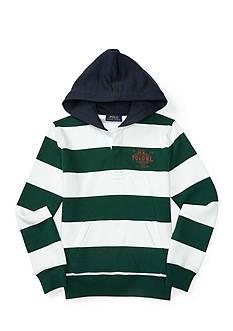 Ralph Lauren Childrenswear Striped Graphic Hoodie Boys 8-20