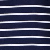 Youth Polo Shirts: French Navy Multi Polo Sport 7/25 STRIPE POLO RED