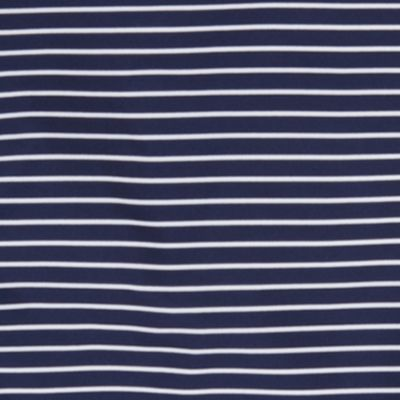 Boys Polo Shirts: French Navy Multi Polo Sport 7/25 STRIPE POLO RED