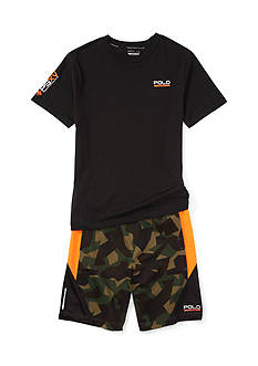 Polo Sport Camo Short Boys 8-20