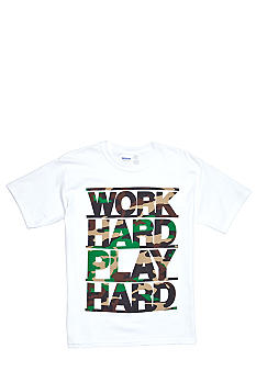 Hybrid Work Hard Play Hard Tee Boys 8-20