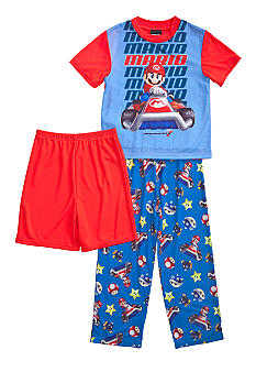 MarioKart 3-piece Pajama Set Boys 4-10