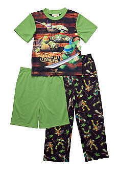 Nickelodeon Ninja Turtles 3-piece Pajama Set Boys 4-10