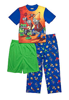 Plants vs. Zombies 3-piece Pajama Set Boys 4-10