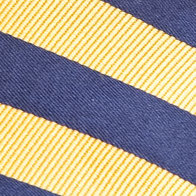 Boys Youth Ties: Yellow J Khaki™ Stripe Tie Boys 4-20