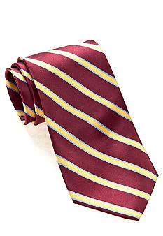 J Khaki Burgundy Stripe Tie Boys 4-20