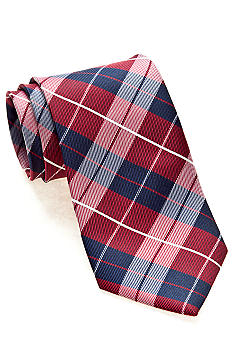 J Khaki Red Plaid Tie Boys 4-20