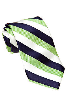 J Khaki Green Stripe Tie Boys 4-20