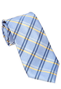 J Khaki Blue Plaid Tie Boys 4-20