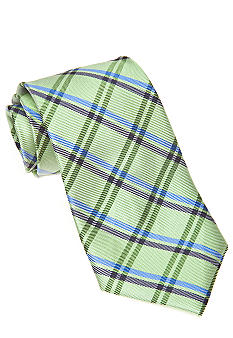 J Khaki Green Plaid Tie Boys 4-20