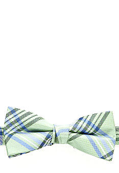 J Khaki Green Plaid Bowtie