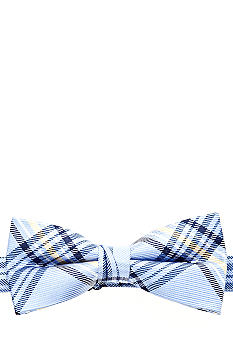 J Khaki Blue Plaid Bowtie